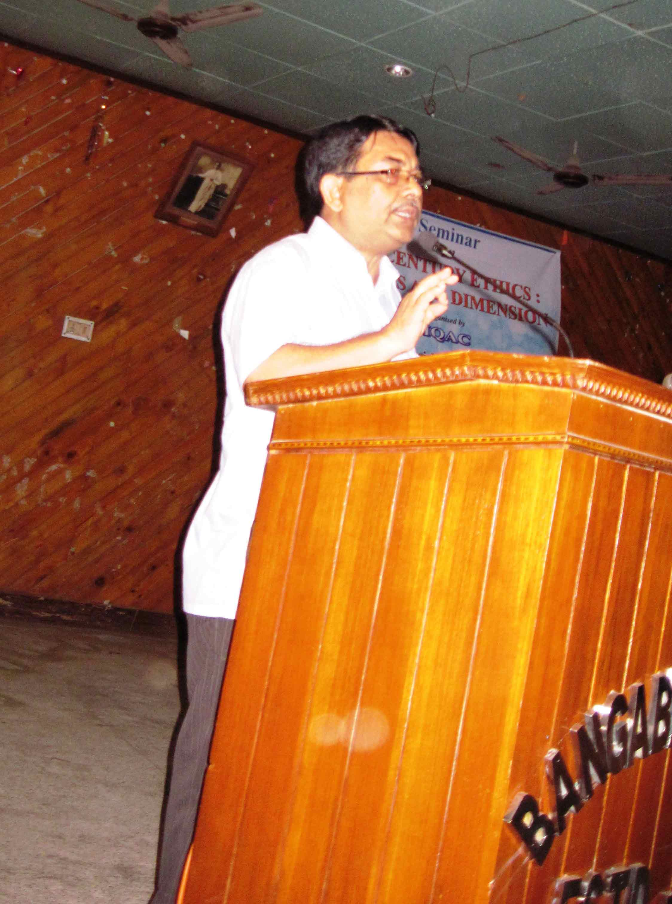 Inaugural speech delivered by Dr. Mukul Kumar Mitra, Coordinator, IQAC