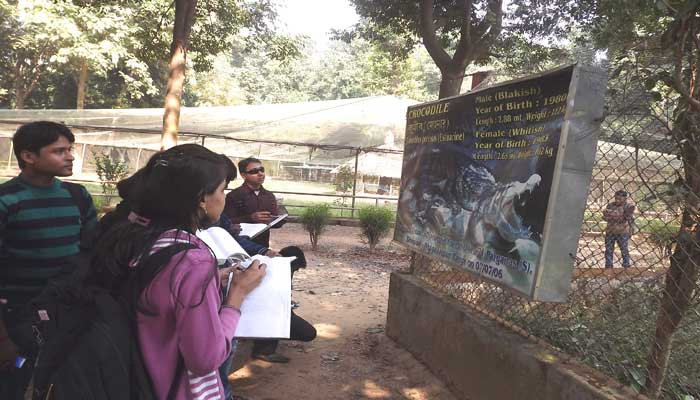 Gathering Knowledge at  Mini Zoo in Ramnabagan Sanctuary
